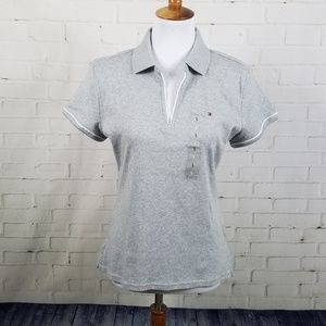 Tommy Hilfiger gray short sleeve polo style shirt